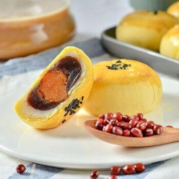 萌小和红豆蛋黄酥雪媚娘夹心面包休闲零食电点心糕点小吃伯味食品 12